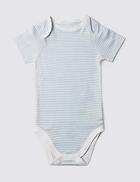 Blue Stripe Short Sleeve Bodysuit (3-8 Years)