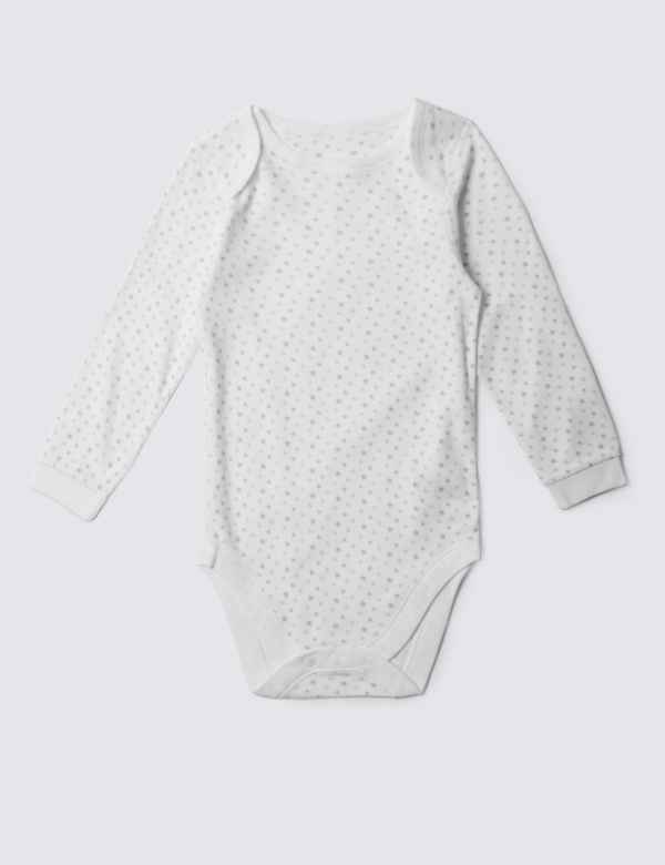 e48bd8444a2 Easy Dressing Unisex Pure Cotton Star Print Bodysuit (3-8 Years)