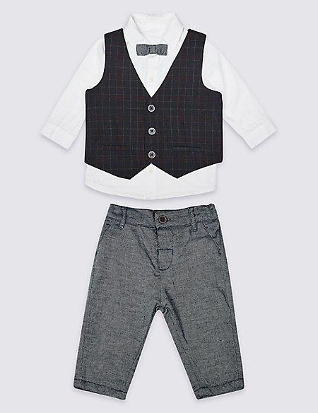 4 Piece Shirt, Trouser & Waistcoat with Tie