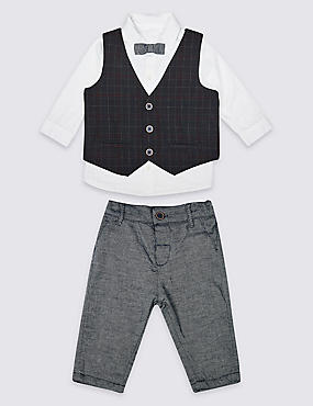 4 Piece Shirt, Trousers & Waistcoat with Tie