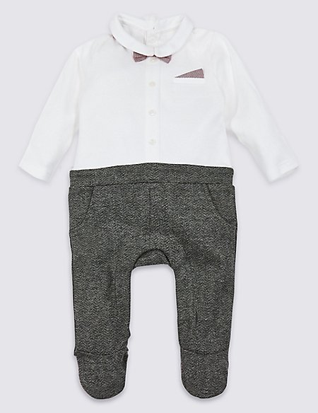 Cotton Rich Bow Tie All in One
