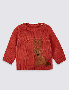 Rabbit Intarsia Knitted Jumper