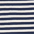 Pure Cotton Striped Shawl, NAVY, swatch