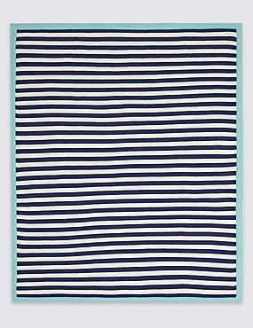Pure Cotton Striped Shawl