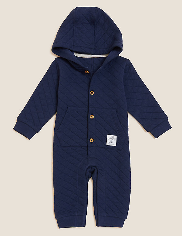 Cotton Hooded Quilted All In One (0-3 Yrs)