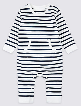 Pure Cotton Striped All in One