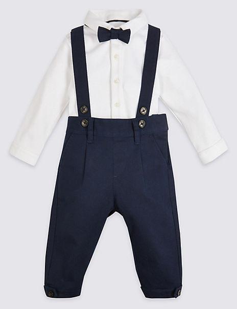 3 Piece Cotton Braces Outfit
