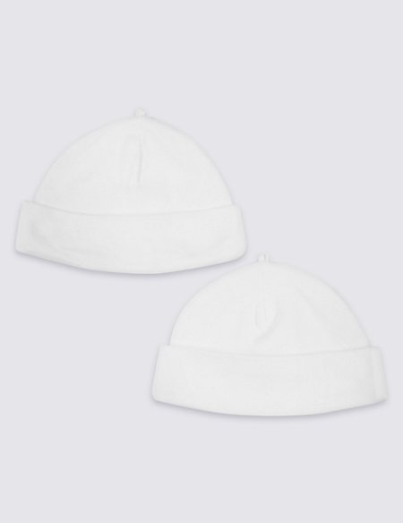 2 Pack Pure Cotton Turn Up Hats