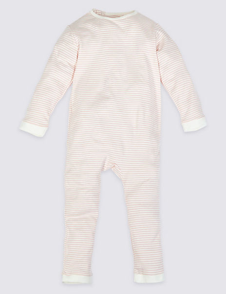 Adaptive Pure Cotton Striped Sleepsuit (3-16 Years)
