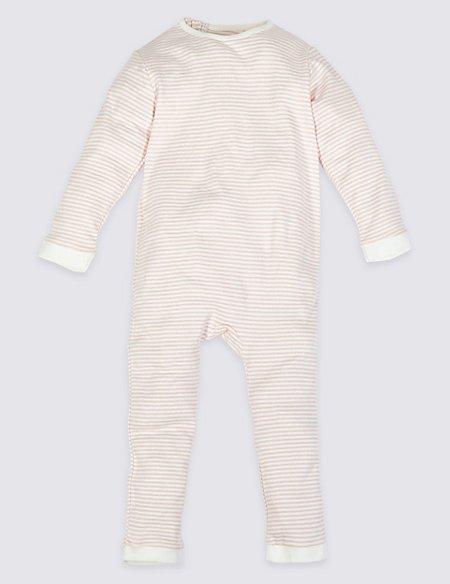 Pure Cotton Back Zip Opening Sleepsuit (3-16 Years)