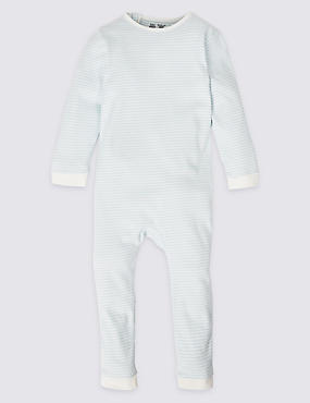 Pure Cotton Striped Sleepsuit (3-16 Years)