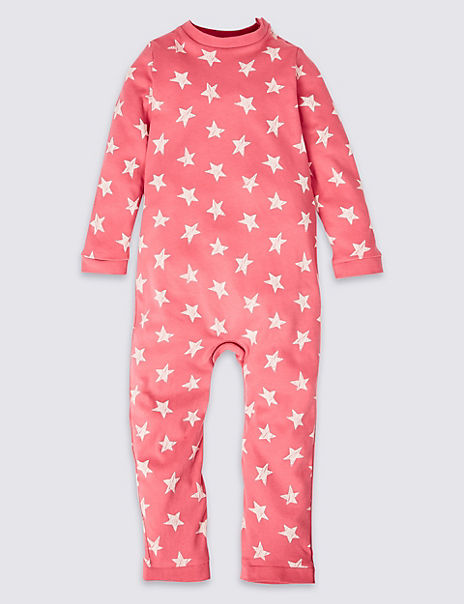 Easy Dressing Pure Cotton Sleepsuit (3-16 Years)