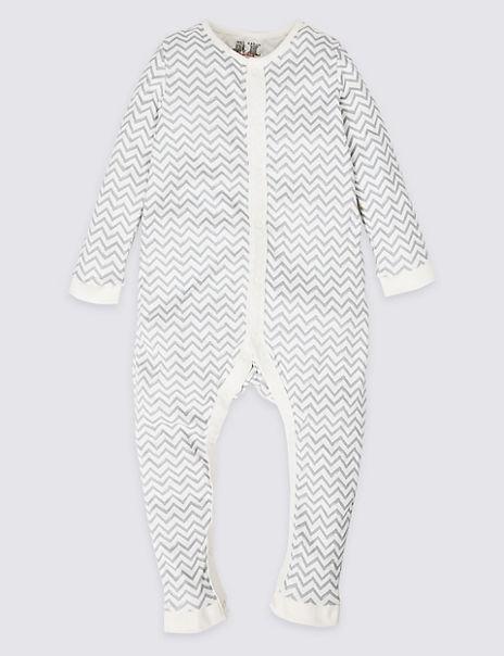 Adaptive Pure Cotton Zig Zag Sleepsuit (3-16 Years)