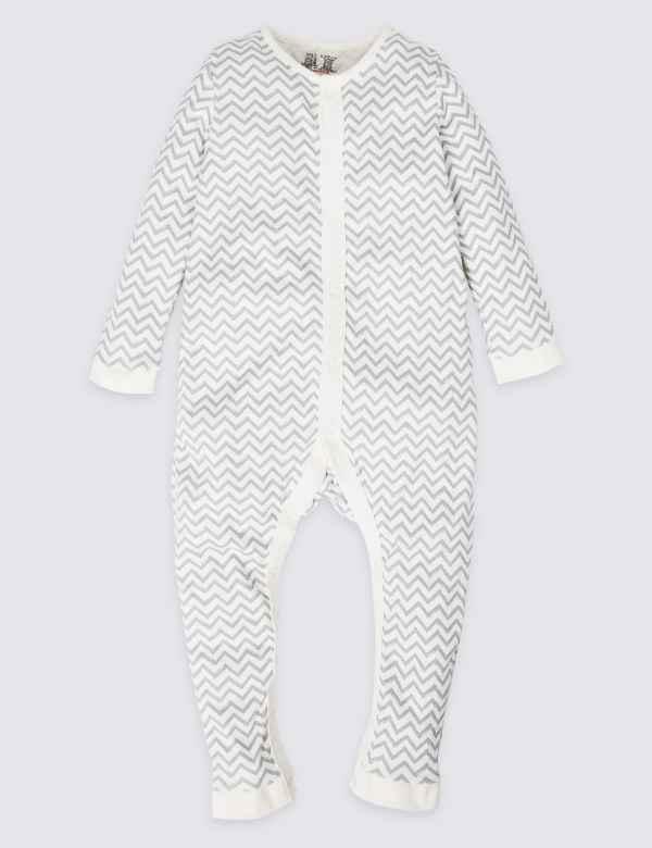 e5fed4f2dc Easy Dressing Pure Cotton Zig Zag Sleepsuit (3-16 Years)