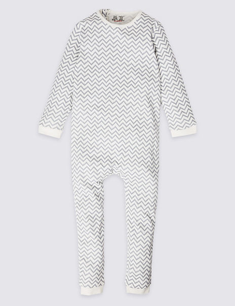 Easy Dressing Pure Cotton Back Zip Sleepsuit (3-16 Years)