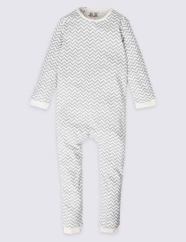 2154b6df0c Easy Dressing Pure Cotton Back Zip Opening Sleepsuit (3-16 Years)