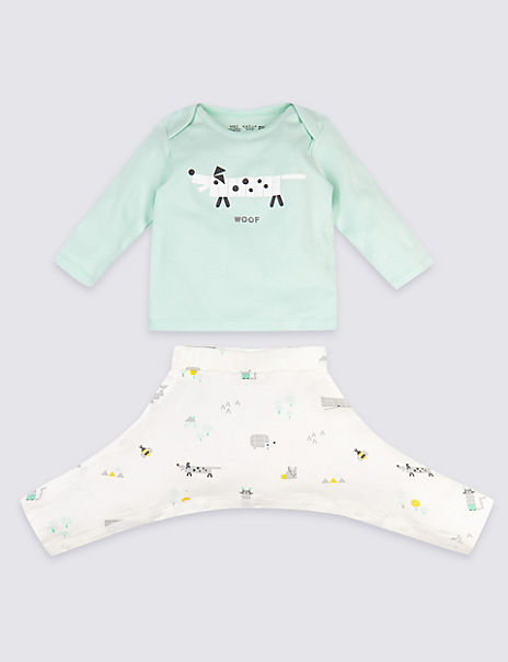 Pure Cotton Easy Dressing 2 Piece Hip Dysplasia Outfit