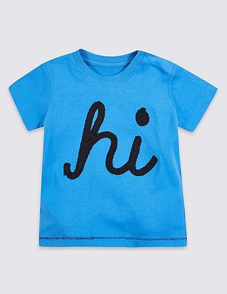 Pure Cotton Hi Graphic T-Shirt