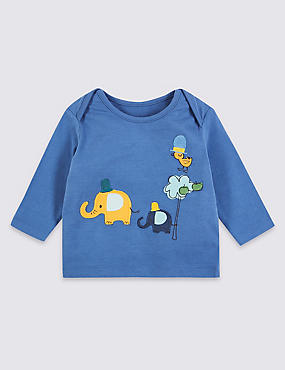 Pure Cotton Elephant Applique Top
