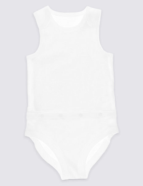 Easy Dressing Unisex Pure Cotton Bodysuit (3-8 Years)