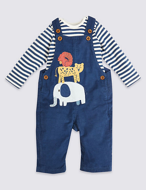 2 Piece Cotton Dungarees Outfit