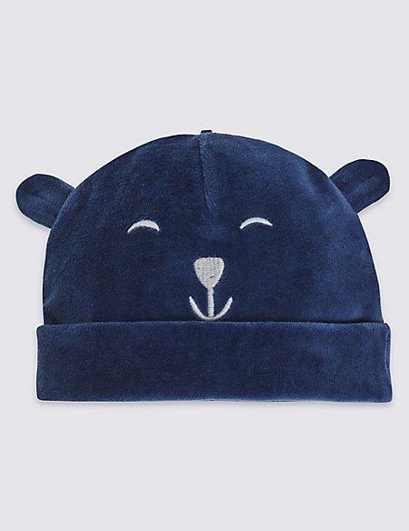 Kids' Bear Velour Hat