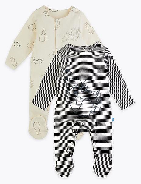 2 Pack Peter Rabbit™ Sleepsuits