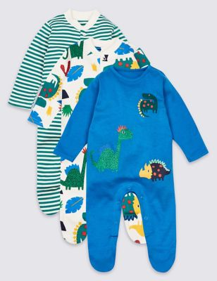 3 Pack Boys M&p Grows 9-12m Baby & Toddler Clothing