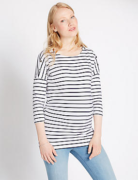 Maternity Striped Feeding Top with Modal