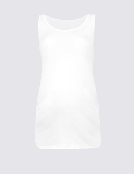 Maternity Cotton Vest Top with Stretch