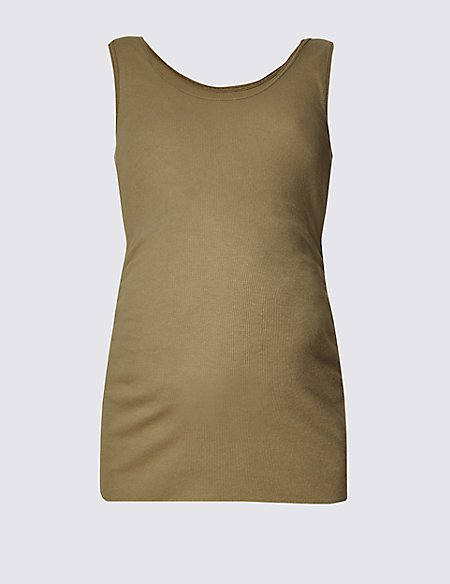 Maternity Ribbed Vest Top