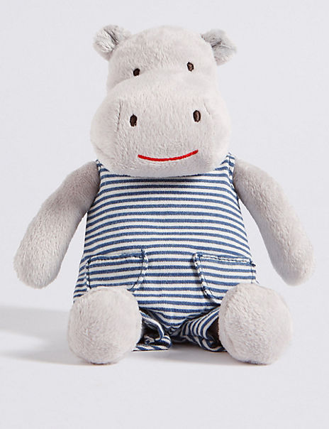 Hippo in Dungarees Toy