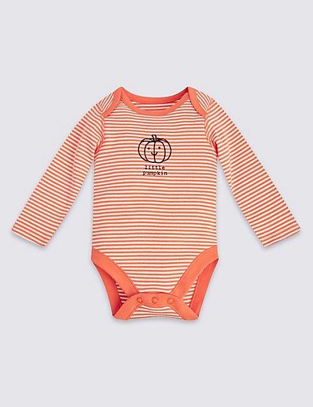 Pure Cotton Little Pumpkin Bodysuit