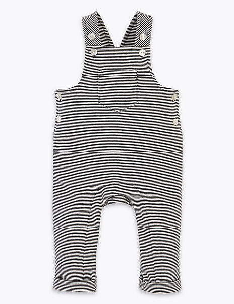 Cotton Rich Striped Dungarees