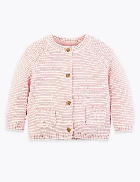 Cotton Striped Cardigan (0-3 Years)