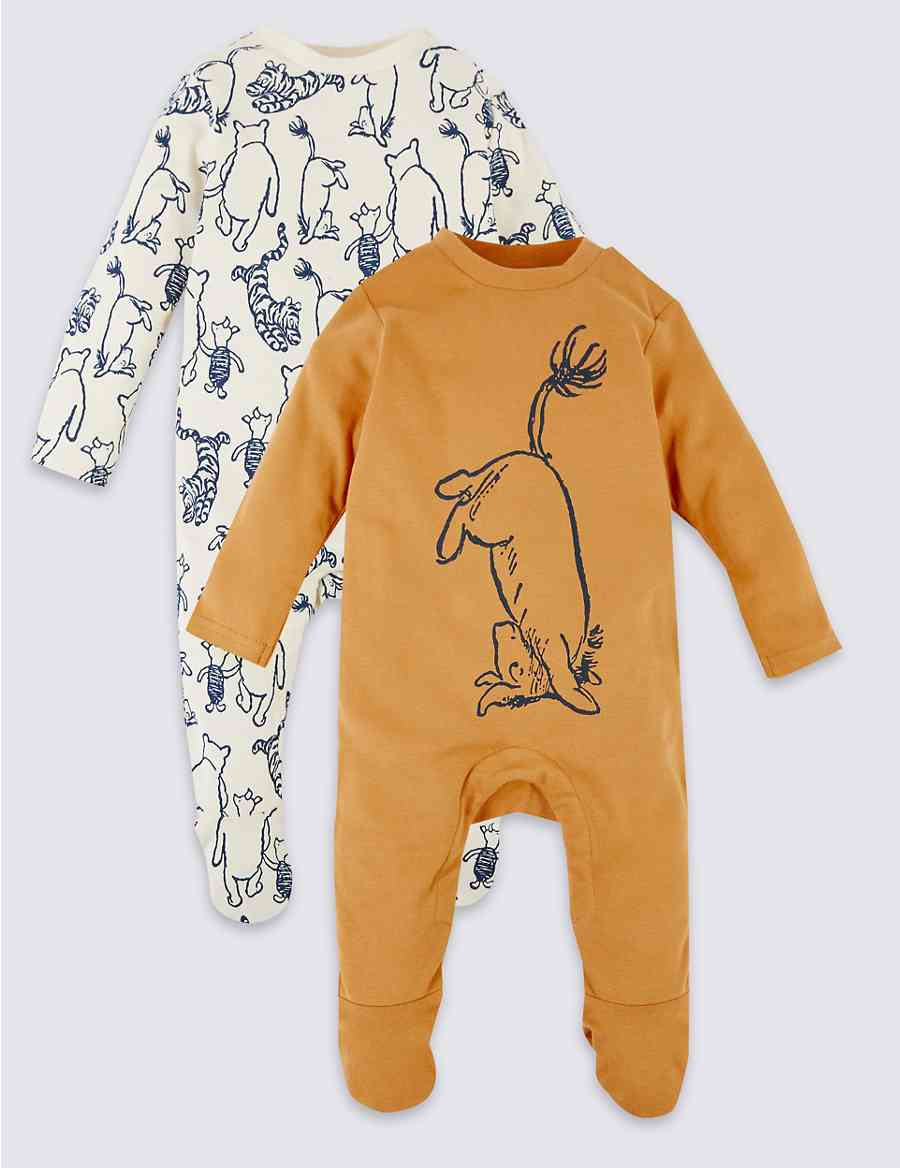 c5ad4bd1358 2 Pack Winnie the Pooh   Friends™ Sleepsuits