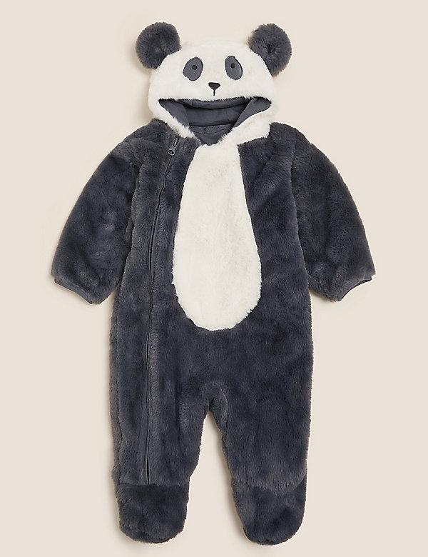 Fleece Panda Pramsuit (7lbs - 12 Mths)