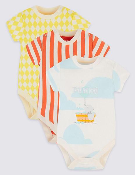 Disney Dumbo™ 3 Pack Pure Cotton Bodysuits
