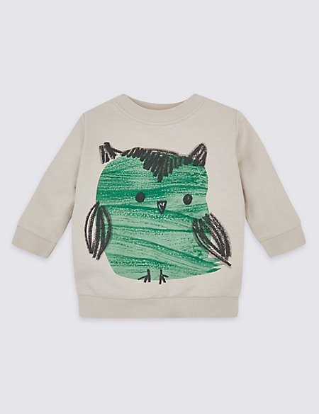 Pure Cotton Owl Sweatshirt