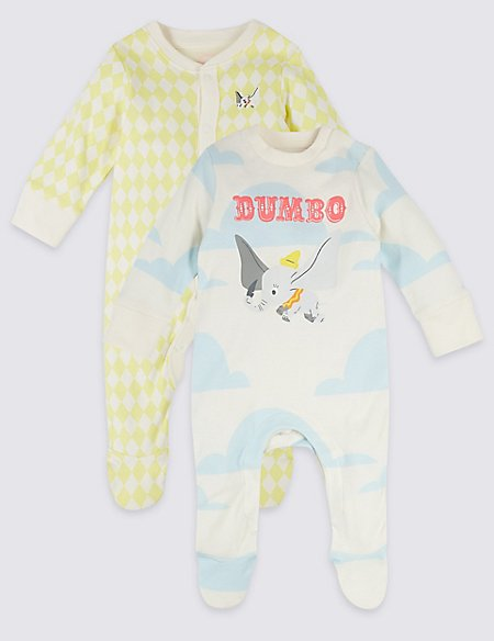 2 Pack Disney Characters™ Dumbo Sleepsuits