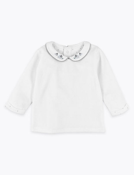 Organic Cotton Rich Velour Top