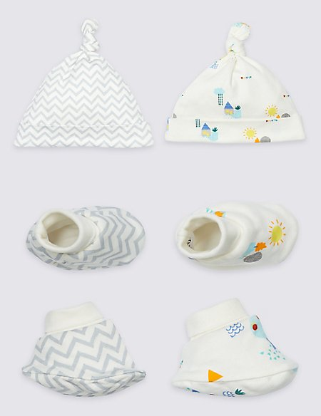 2 Pack Pure Cotton Hat & Booties
