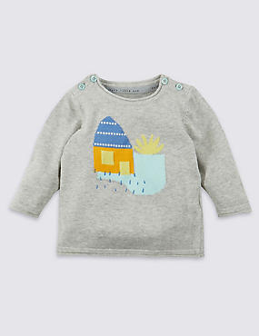Pure Cotton House Knitted Jumper