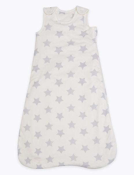 Organic Cotton 1 Tog Star Design Sleeping Bag