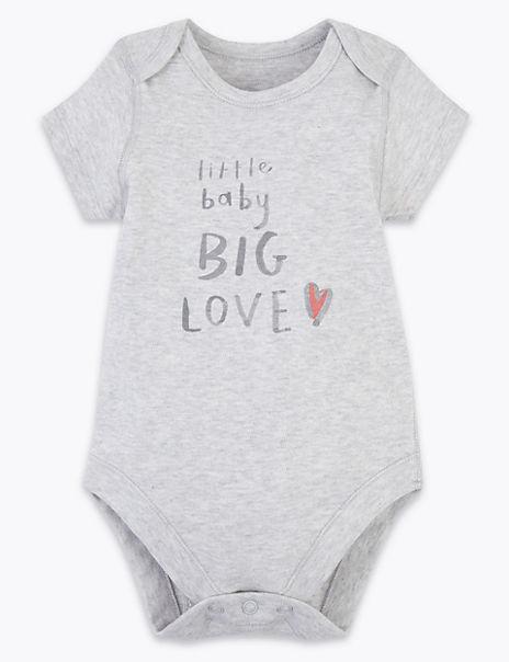 Organic Cotton Big Love Slogan Bodysuit