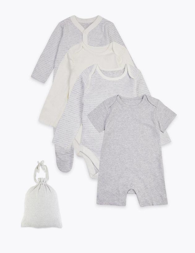 5 Pack Cotton Gift Bag Set (5lbs-12