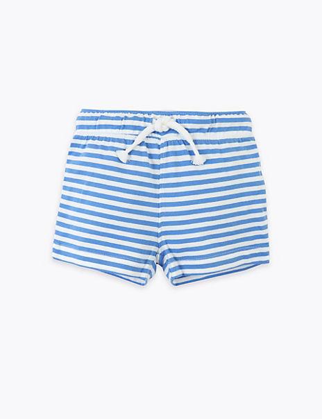 Pure Cotton Sea Life Shorts (0-3 Years)