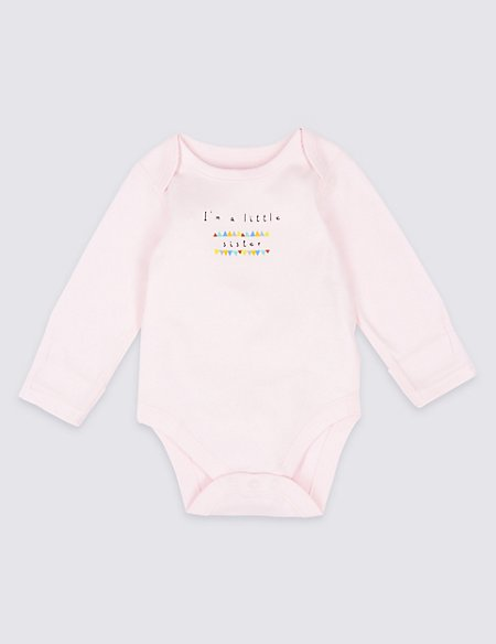 I'm a Little Sister Pure Cotton Bodysuits