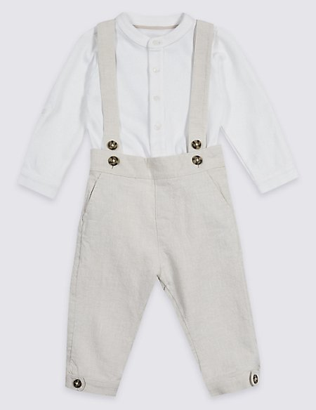 2 Piece Jersey Bodysuit & Trousers Outfit