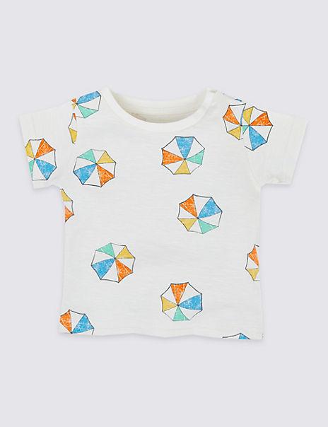 Pure Cotton Parasol T-Shirt